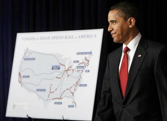 Obama and high speed rail.