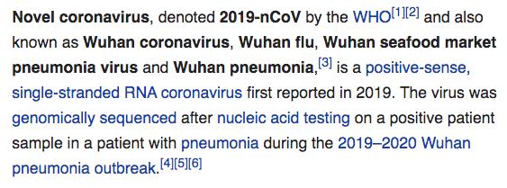 Wikipedia on this Novel coronavirus (2019-nCoV)
