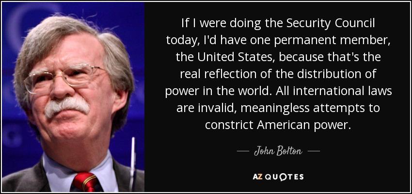 John Bolton quote.
